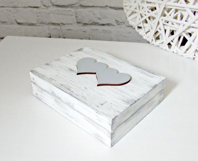 pudełeczko skrzynka na obrączki shabby chic by Eco Manufaktura.