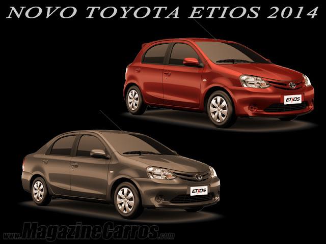 Novo Etios 2014 sedan e hatchback.