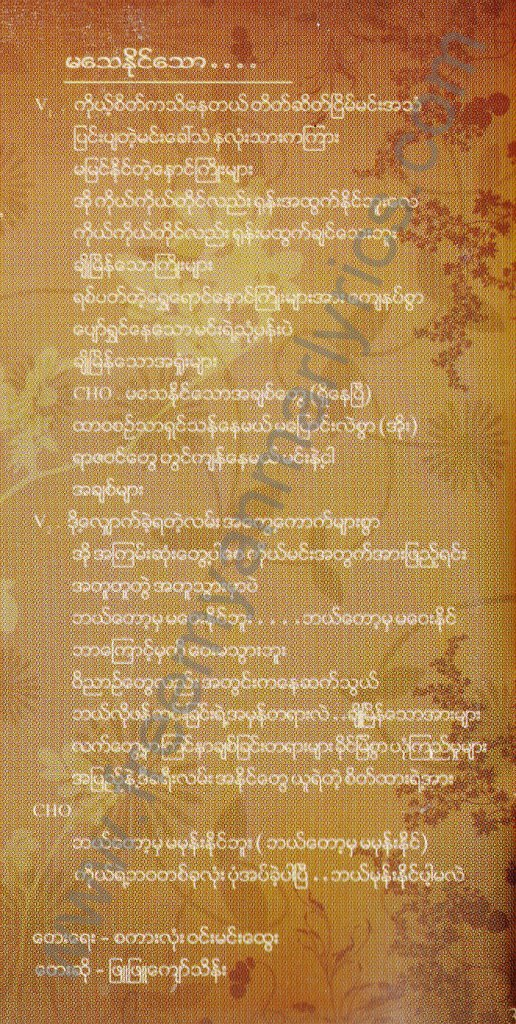 Phyu Phyu Kyaw Thein Chit Thu Ah Mone Kyein Sar