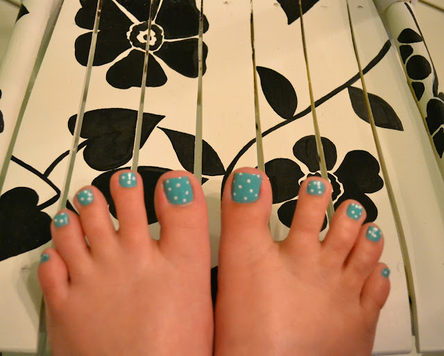 Polka Dot, Pedicure, Julep, Robin, Nails, Polish, Nail Art