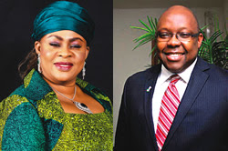 Aviation Minister, Ms. Stella Oduah and FAAN MD, Mr. George Uriesi