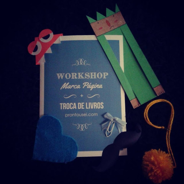 Workshop Marca Página + Troca de Livros, no Bazar Clube das Pinups