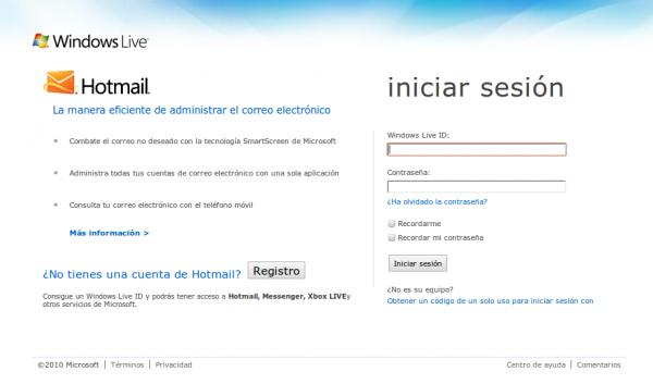 Cuenta Hotmail crear
