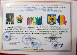 """Diploma obţinută de Mirabela Gherasim, ( X B ) la Concursul Naţional """"Unirea Principatelor"""", 2011"""
