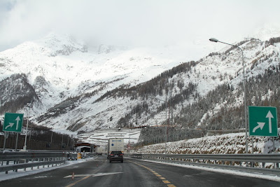 Approaching Mont Blanc Tunnel - Italian Side