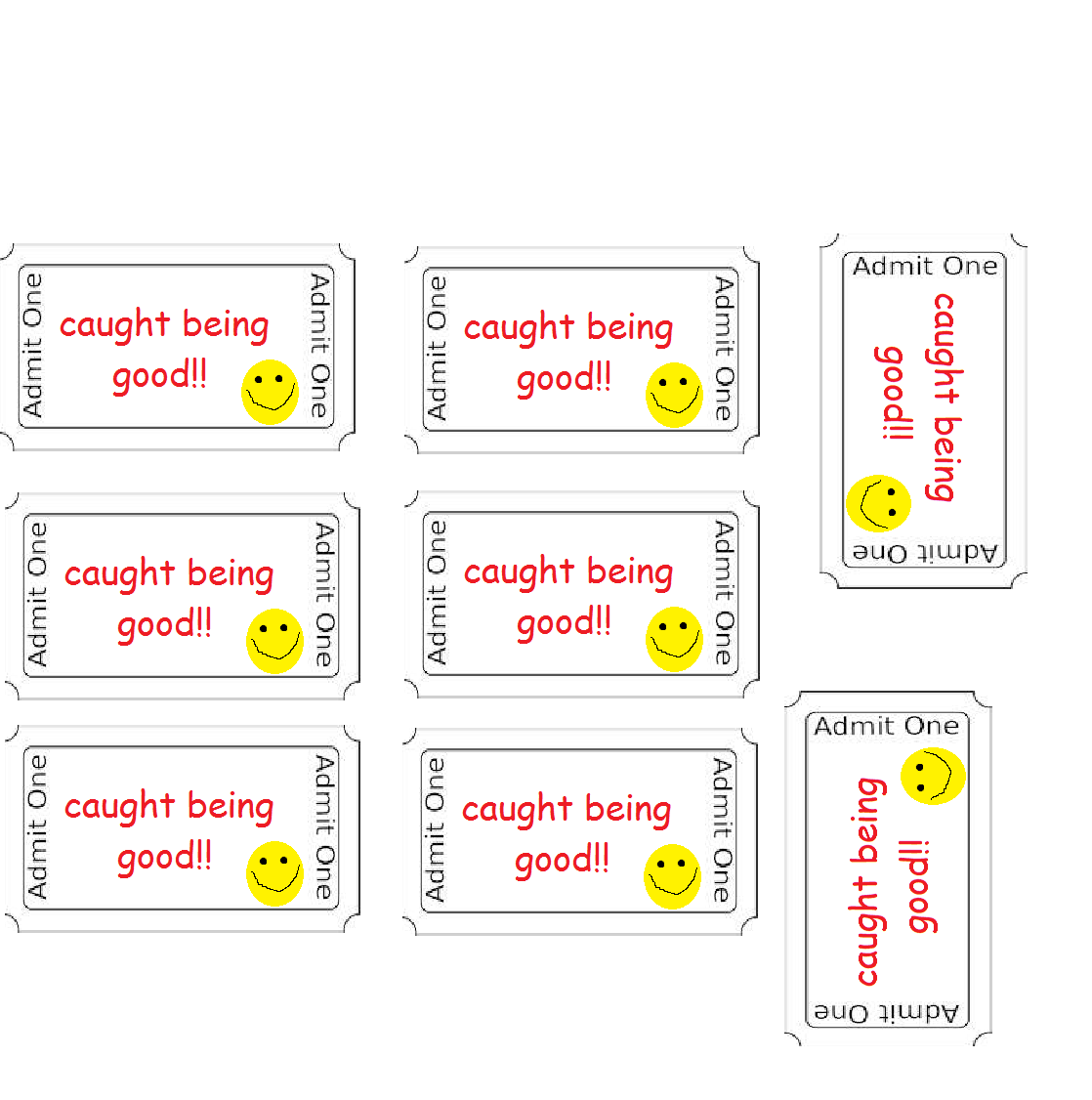 Pin Caught Being Good Ticket Free Printables on Pinterest