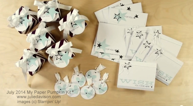 Stampin' Up! My Paper Pumpkin July 2014 Wish Big Kit