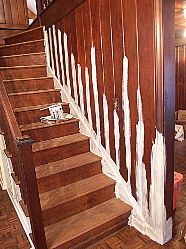 Morning by morning productions wood walls are not drywall Can you paint wood paneling