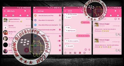 New BBM Mod Line Cony Themes Pink Color v2.9.0.51 Apk BackUp Free Sticker