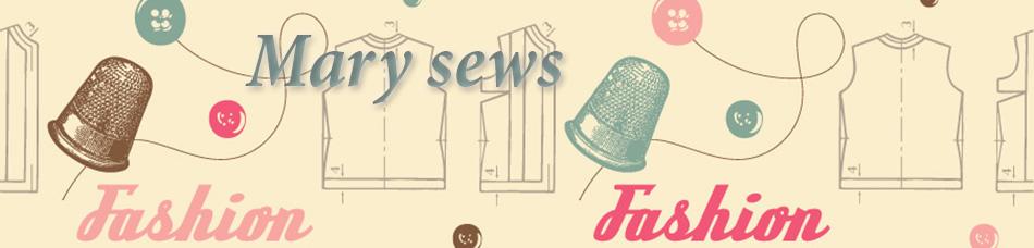 Mary sews