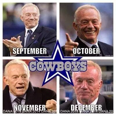 Cowboys - september, october, november, december