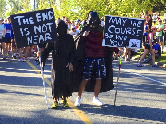 May the course be with you Marathon sign