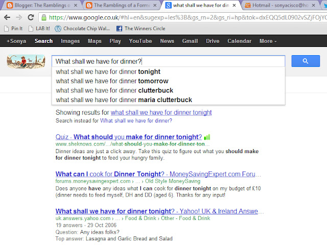what is for dinner google search