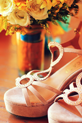 wedding at Bali-bali, Samal - shoes and bouquet
