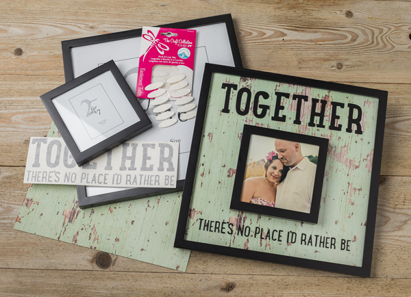 Frame in Frame Decor @craftsavvy @sarahowens #craftwarehouse #frame #scrapbooking #diy #home #decor