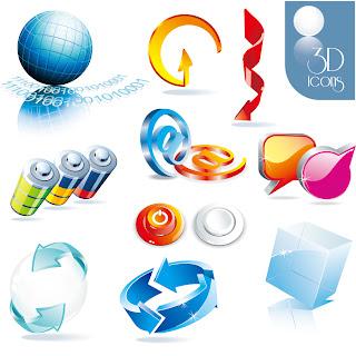 立体的なインターネット アイコン beautiful 3d icon イラスト素材2