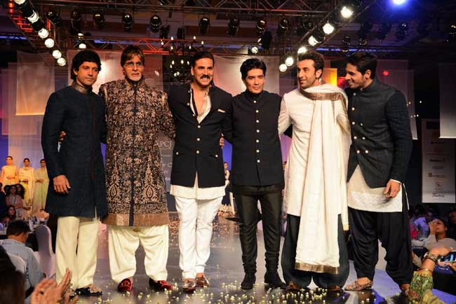 Celebs during Men for Mijwan charity fashion show