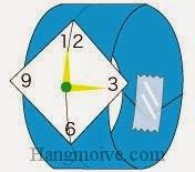 Bước 9: Vẽ số để hoàn thành cách xếp cái đồng hồ bằng giấy theo phong cách origami.