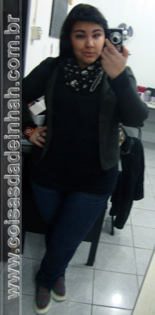 look do dia blazer tnis jeans brech