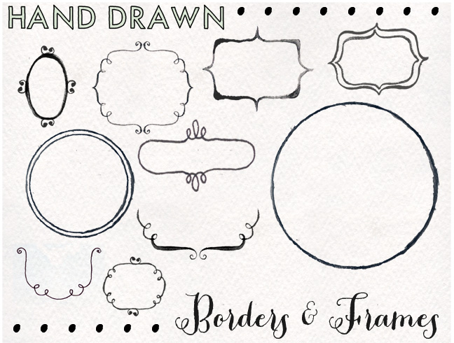 #freebie #free #label #outline #border #handdrawn #hand drawn #watercolor #sketch
