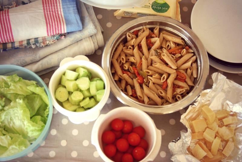 picnic al parco cibo biologico