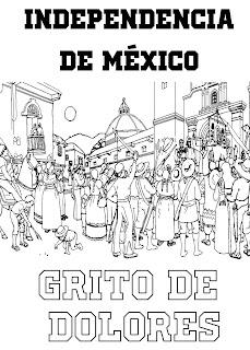 Independencia de Mexico para colorear | 16 de septiembre grito de dolores