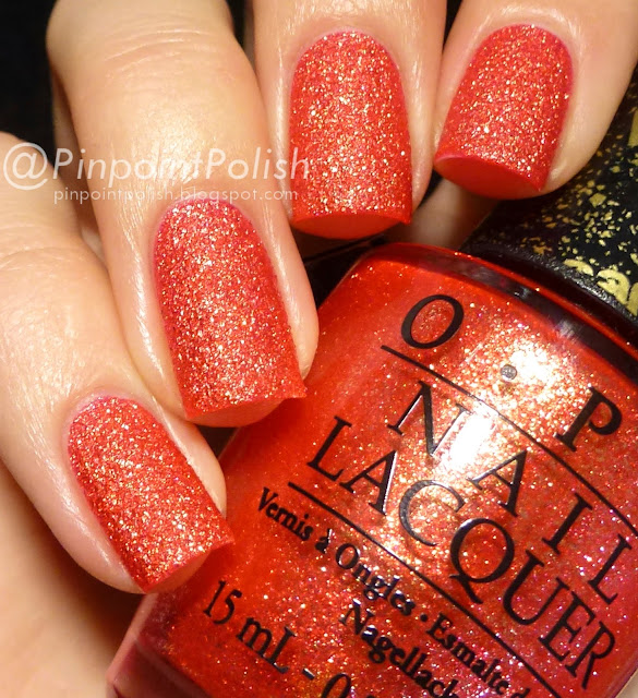 OPI, Jinx, liquid sand, swatch