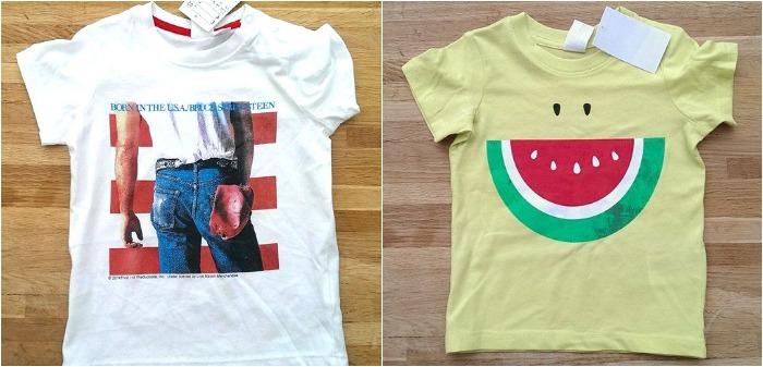 H&M baby clothes - springsteen and watermelon