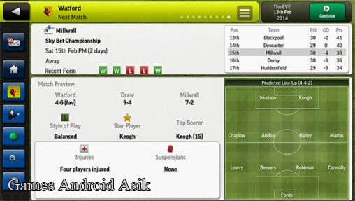 Android Games Football Manager Handheld 2014 Asik - 5