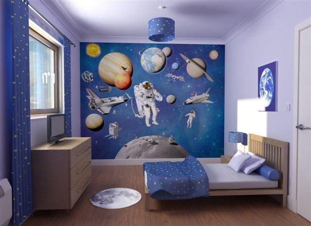 Dormitorios infantiles de universo for Vinilos para dormitorios infantiles