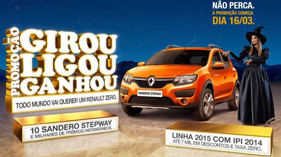 Promoção Girou Ligou Ganhou Renault 2015