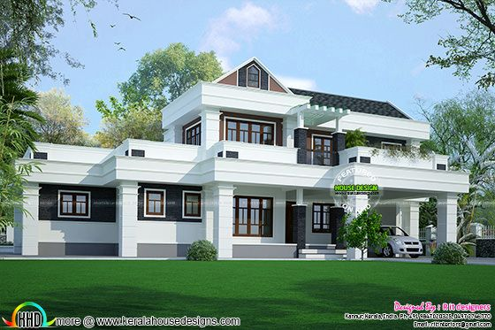 2788 sq-ft modern house in Keraa