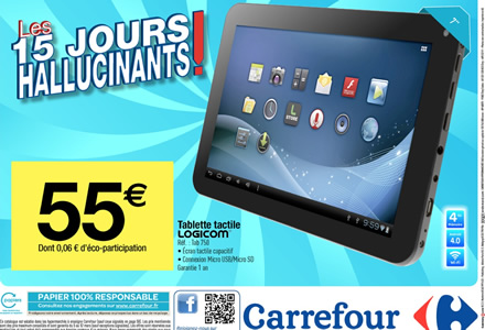 monandroidamoi tablette logicom tab 750 55 chez carrefour. Black Bedroom Furniture Sets. Home Design Ideas