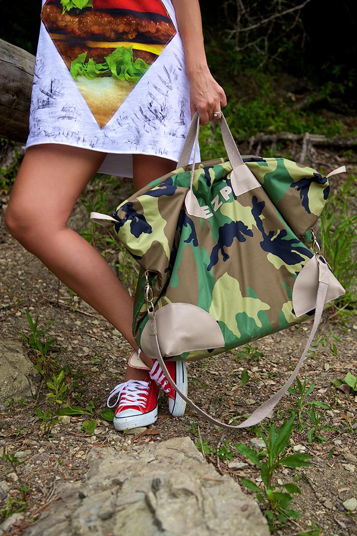 borsone personalizzato con iniziali