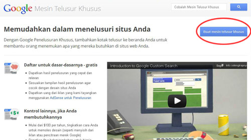 Cara Membuat Google Custom Search Engine Sendiri