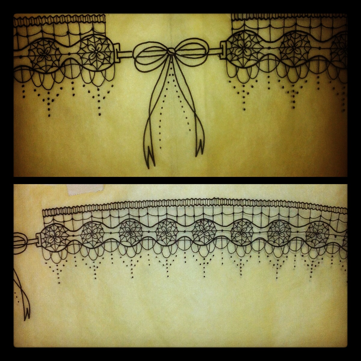 Today a peacock garter tattoo for Garter tattoo templates