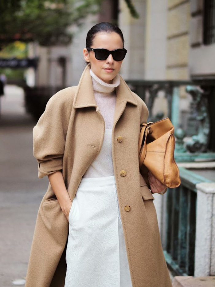fall fashion inspiration, camel coat, pastels