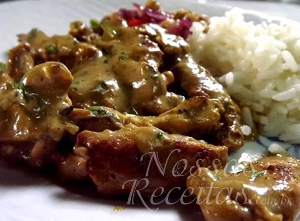 receita de frango preparado com tempero indiano
