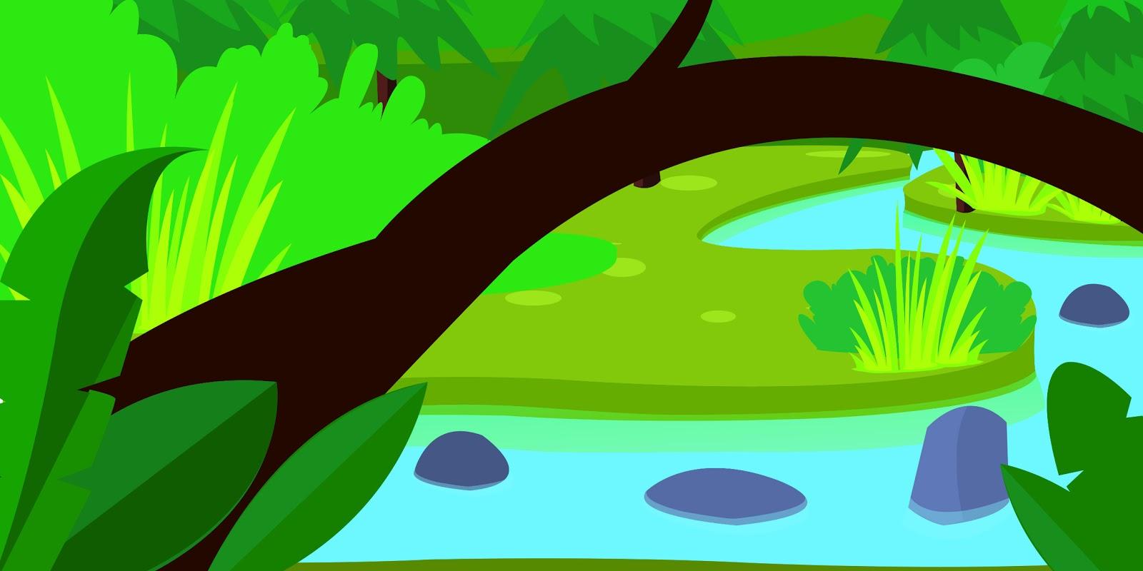 selva art  cartoon landscape
