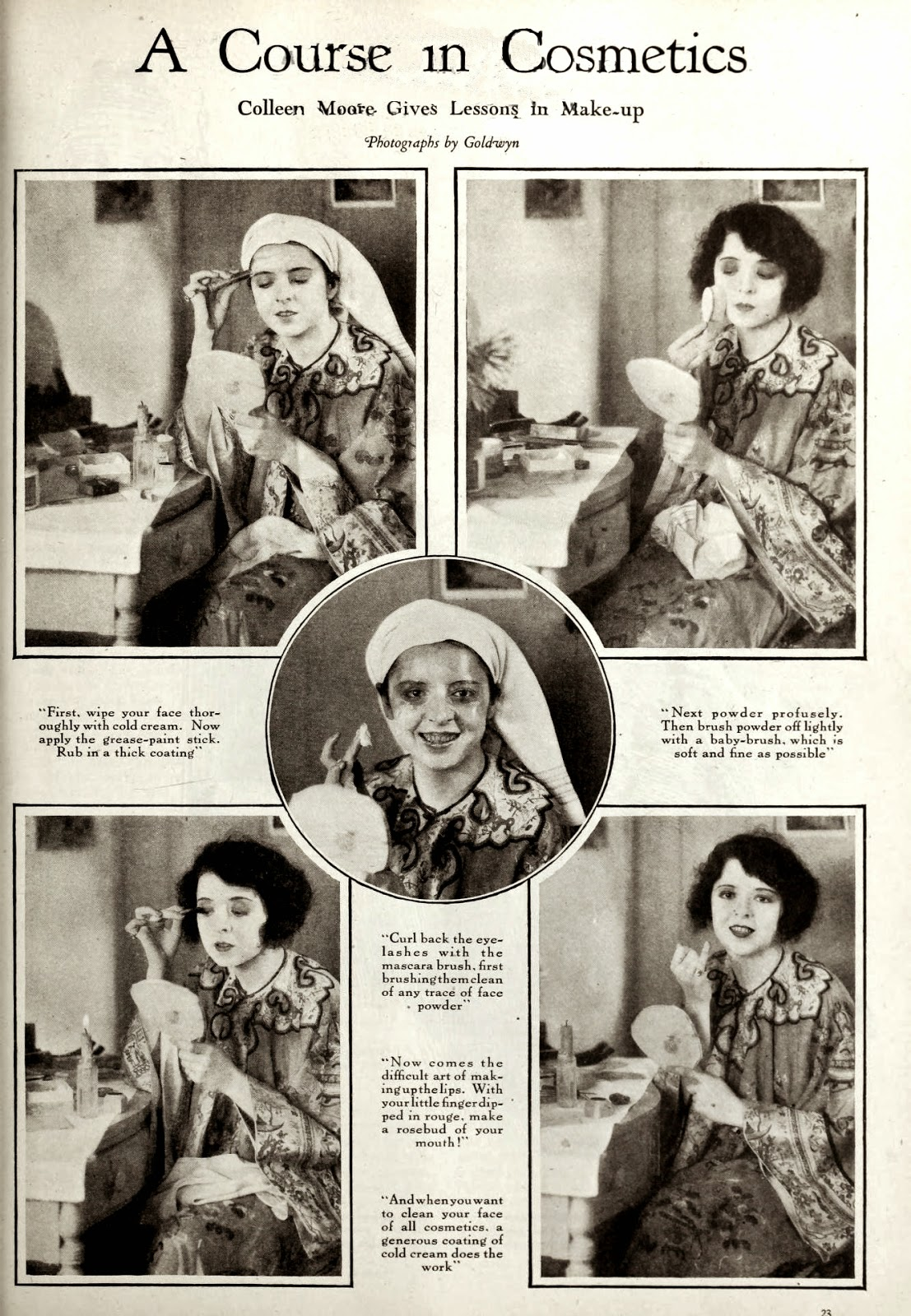Colleen Moore gives lessons in make-up