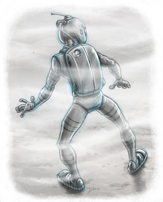 Spaceman a Danny Moore Illustration