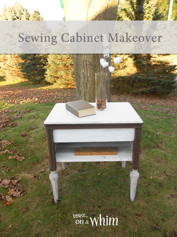 Warm and White: A Sewing Cabinet Makeover from Denise on a Whim