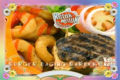 Ketuk-ketuk Ramadan bersama Raja Ilya, Tesco Extra Ipoh, Roti Jala dan Kari Ayam Malbari, Burger Daging Barbeku