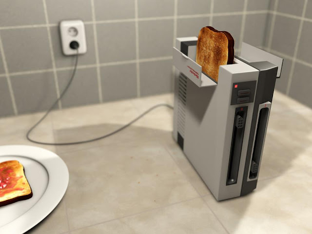 a NES toasting a bread