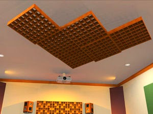 acoustic diffusion ceiling, ceiling diffusers