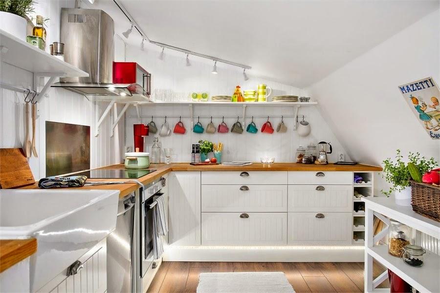 wystrój wnętrz, wnętrza, urządzanie mieszkania, dom, home decor, dekoracje, aranżacje, styl skandynawski, mini loft, białe wnętrza, biel, otwarta przestrzeń, kuchnia