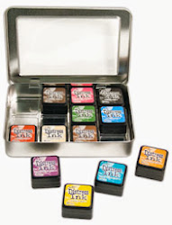 New from Tim Holtz - Mini Distress Ink Storage Tin!