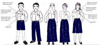 seragam SMP, seragam, sekolah SMP, Permendikbud  No.45 Tahun 2014