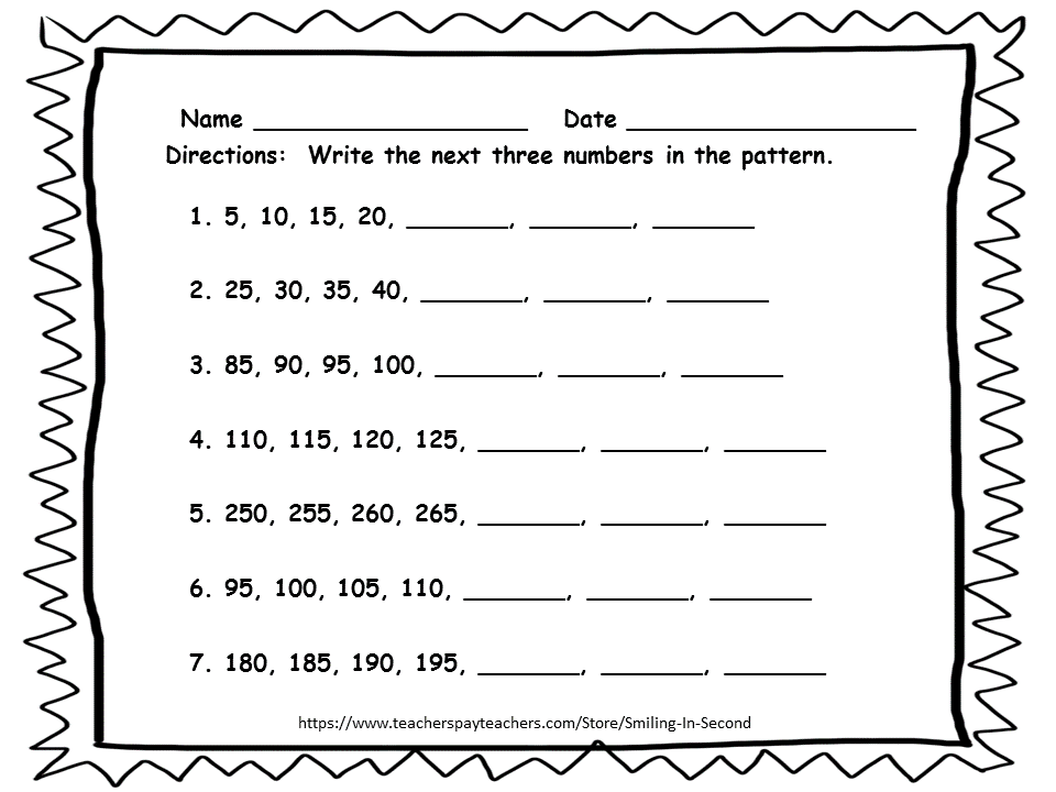 First Grade Skip Counting Worksheets Scalien – Math Skip Counting Worksheets