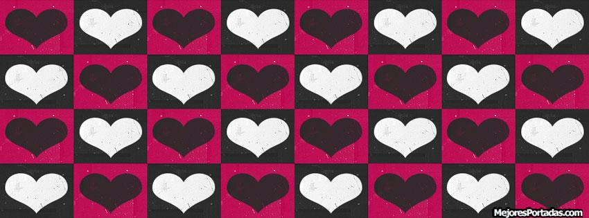 Cuadrados y corazones - ÷ Las Mejores Portadas para tu perfil de ...